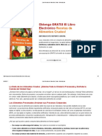 Libro Recetas de Alimentos Crudos - Mercola