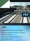 Tests on Slab Track Under HAL 8-10-07