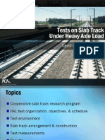 Tests on Slab Track Under HAL 8-10-07