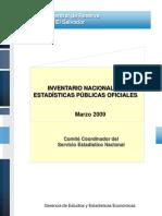 Inventario Nacional de Estadísiticas Públicas Oficiales