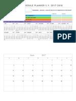 Event Schedule Planner 2017-2018