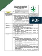 8.7.4.4 Sop Evaluasi Terhadap Uraian Tugas Dan Pemberian Kewenangan Pada Petugas Pemberi Layanan Klinis