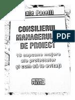 Consilierul Managerului de proiect/ Lonnie Pacelli