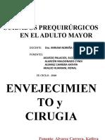 CUIDADOS PREQUIRÚRGICOS EN EL ADULTO MAYOR