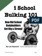 Old School Bulking 101