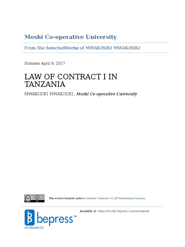 Law of contract in tanzania part 1 by mwakisiki mwakisiki edwards law of contract in tanzania part 1 by mwakisiki mwakisiki edwards offer and acceptance common law stopboris Choice Image