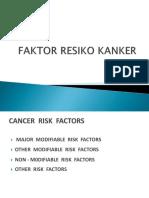 FAKTOR RESIKO KANKER