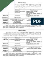 Plan Especial de Semana Del Preescolar