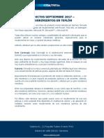 Productos Septiembre 2017 - Recubrimientos en Teflón