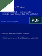 CLANG C2 for Windows - Jim Radigan - CppCon 2015.pptx