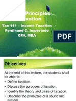 Gen. Principles of Taxation