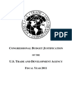2011 US Trade and Development Budget Justification