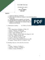Atty. Ayo La Salle. Legal Ethics Syllabus Part II. 2