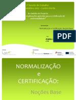 Normalizacao e Certificacao-Nocoes Base