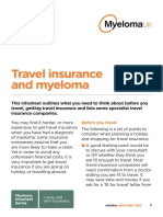 Myeloma UK Travel Insurance Infosheet