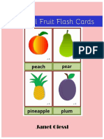 Colorful Fruit Flashcards Free