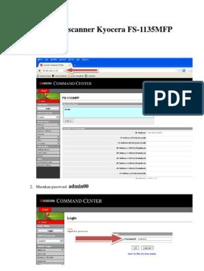 Cara Setting Scanner Kyocera FS-1135MFP