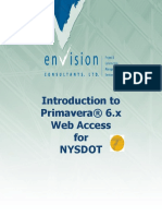 NYSDOT P6 Web Training Manual