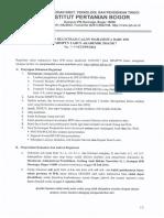 Surat Pengumuman Rektor