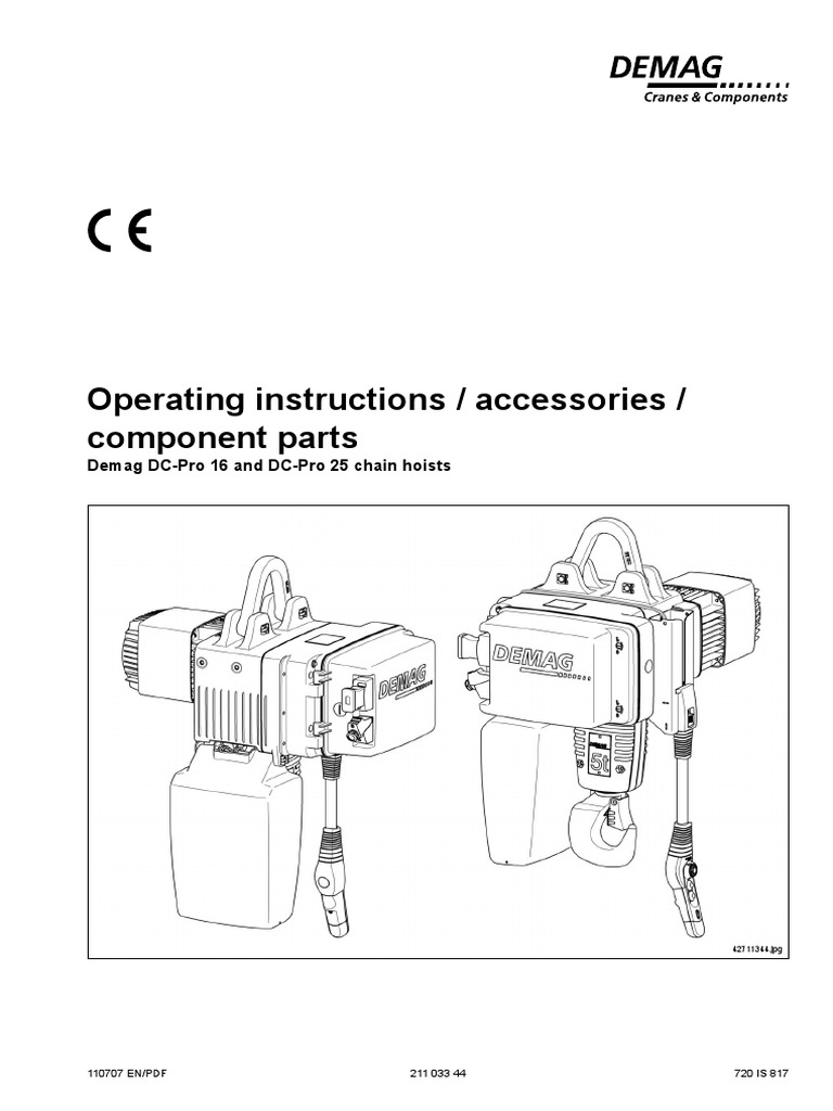 21103344 070711 Talhas Dc Safety Electrician Demag Chain Hoist Diagram