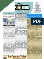 """2010-08-22 El Conquistador Boletín Semanal de """"La Casa de Todos"""""""