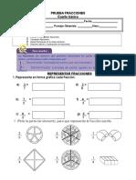 prueba fracciones 4° basico