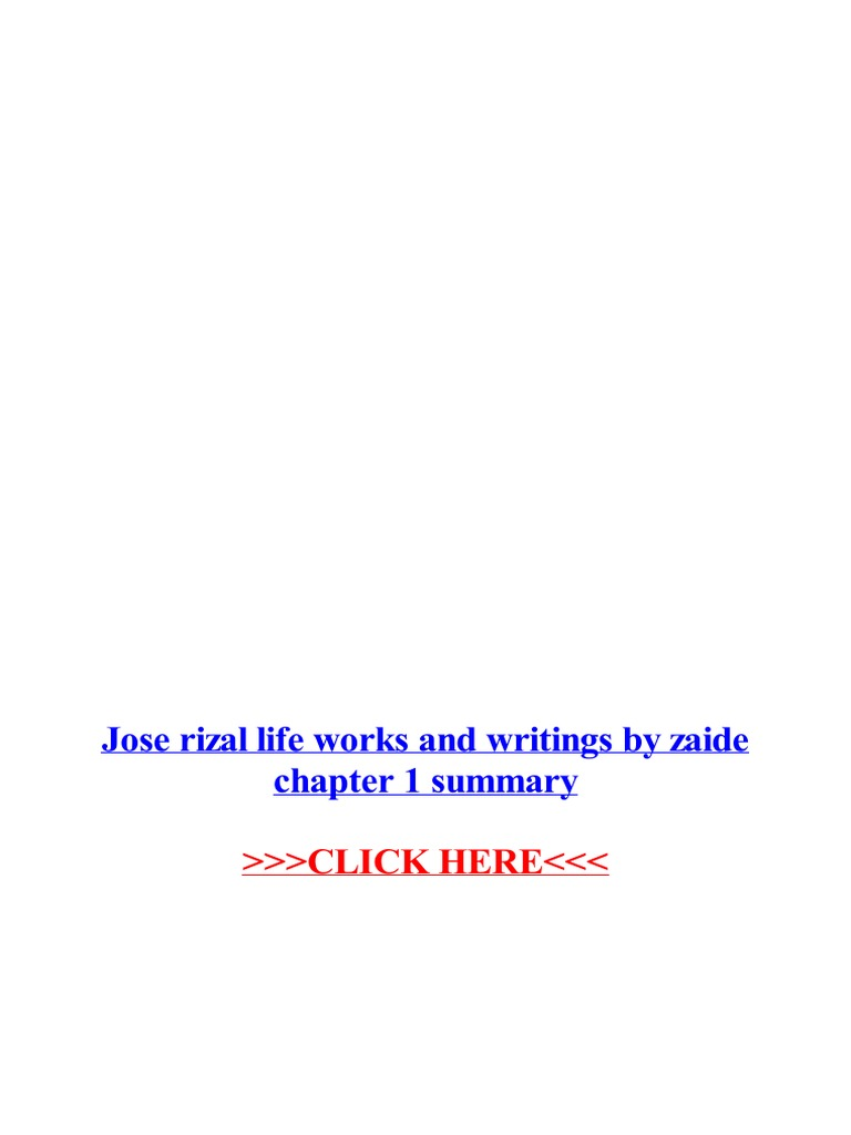 Gregorio Zaide Jose Rizal Life Works And Writings Pdf