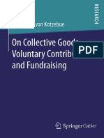 Alexander Von Kotzebue Auth. on Collective Goods, Voluntary Contributions, And Fundraising