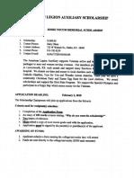 American Legion Aux Scholarship