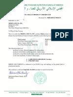 2018 Halal Certificate Gardasil Gardasil9 Pneumovax23(1)