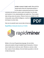 Free Data Mining Tools