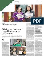 Nikkeis y Tusanes Orgullososamente Peruanos