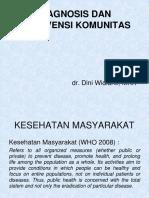 Kuliah Diagnosis Dan Intervensi Komunitas KEDKOM
