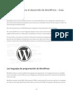 Aprender PHP WordPress