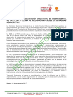 POSICIONAMIENTO DE LA USO ANTE DECLARACION UNILATERAL DE INDEPENDENCIA DE CATALUÑA.pdf