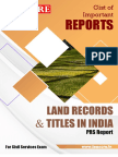 Land Records and Titles in India Binder