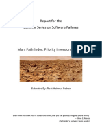 Report Mars Pathfinder Priority Inversion Problem