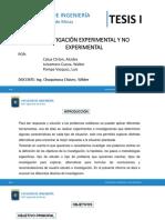 Investigacion Experimetal y No Experimental