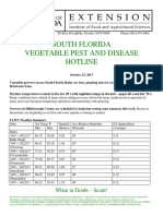 South Florida Vegetable Pest and Disease Hotline - October 23, 2017