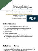 Developing a Web-based Information Management System