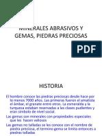 9.- Minerales Abrasivos y Gemas
