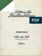 IHC 430 440 Balers