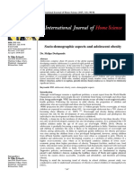 Socio-demographics aspects and adolescent's obesity