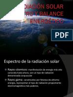 Radiación Solar Espectro y Balance Energético