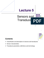 BEF 24002 - Lecture 5xx - Sensors and Transducers