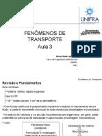 Aula Fenômenos de Transporte 3