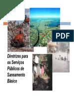 Diretrizes para os Serviços Públicos de Saneamento Básico.pdf