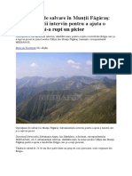 Operaţiune de Salvare În Munţii Făgăraş - Turisti Belgia Rataciti