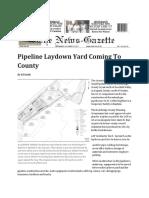 Pipeline Laydown Yard Rockbridge Co VA 2017