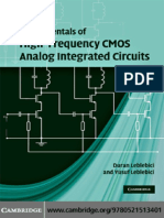 Duran Leblebici, Yusuf Leblebici Fundamentals of High-Frequency CMOS Analog Integrated Circuits(1)